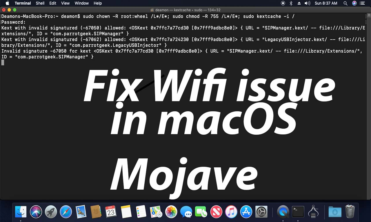 How to fix wifi Atheros AR9285 in macOS Mojave - Ur Computer