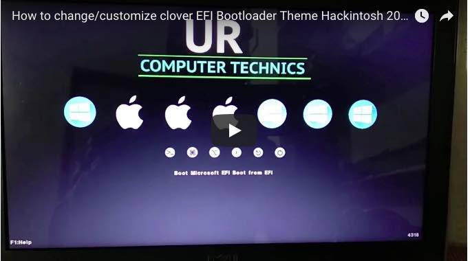 How to change/customize clover EFI bootloader theme Hackintosh 2018