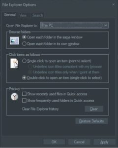 switch to this pc from quick access