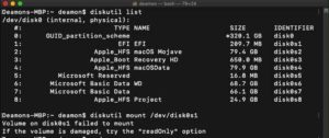 How to mount EFI partition on macOS Mojave